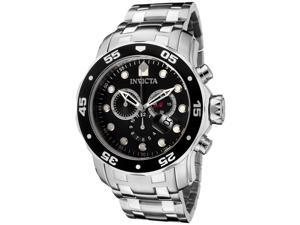 Invicta 0069 Men's Pro Diver Chronograph Stainless Steel Watch
