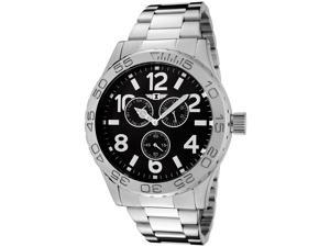 I by Invicta IBI-41704-003 Silver-Tone Stainless Steel Black Dial Men's Watch