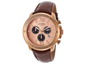 Rotary GS02840-25 Men's Chrono Brown Genuine Leather Rose-Tone Dial Watch