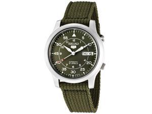 Men's Seiko 5 Automatic Fabric Watch  - Green