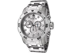 Men's Pro Diver Chrono Stainless Steel Silver-Tone Dial