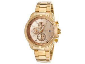 Invicta 19222 Men's Specialty Chrono 18K Gold Plated Watch - Stainless Steel, Gold-Tone Dial