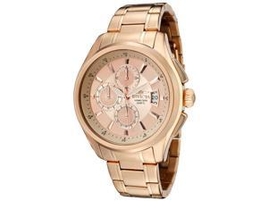 Men's Specialty Chronograph Rose 18K Gold Plated Steel Rose-Tone Dial