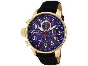 Invicta Men's Force Chronograph Blue Dial Black Riffle