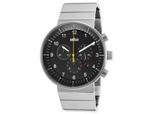 Men's Prestige Chronograph Stainless Steel Black Dial