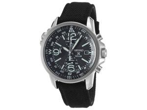 Men's Prospex Solar Chrono Dual Time Black Nylon and Dial