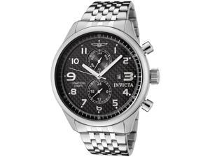 Men's Specialty Stainless Steel Black Textured Dial