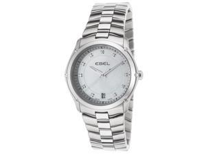 Women's Classic Sport Diamonds Stainless Steel White MOP Dial