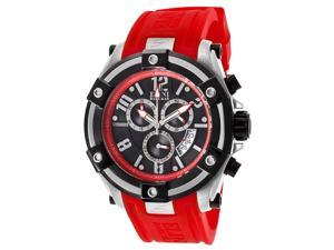 Gladiator Chronograph Red Silicone Black Dial
