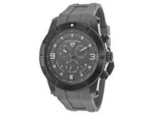Swiss Legend 10164-Gm-014 Everest Chrono Grey Silicone And Dial Gunmetal Ip Ss Watch