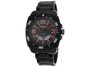 Jorg Gray Solid Stainless Steel Bracelet Black Dial Men's watch #JG9800-24
