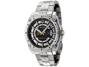 Men's Precisionist Stainless Steel Black Carbon Fiber Dial