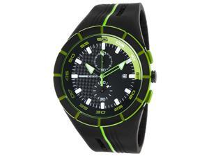 Momo Design Md1113bk-31 Men's Highway Chrono Black And Lime Green Silicone Carbon Fiber Dial Watch