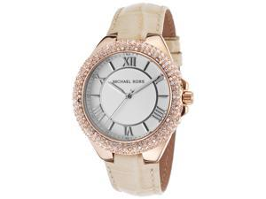 Women's Camile Crystal Cr?me White Genuine Leather White Dial