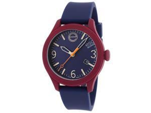 ESQ 7301453 One Navy Blue Silicone & Dial Maroon Case Unisex Watch
