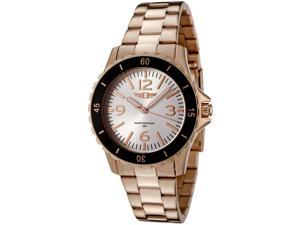 I By Invicta 89051-007 Women's Rose-Tone 18K Gold Plated Stainless Steel Silver-Tone Dial Watch