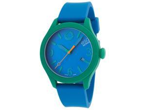 Esq Movado 7101456 Esq One Blue Silicone And Dial Short Strap Watch