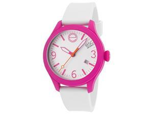 Esq Movado 7101431 Esq One White Silicone & Dial Magenta Case Short Strap Watch