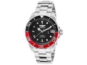 Invicta 9403 Men's Pro Diver Automatic Silver-Tone Ss Black Dial Two-Tone Bezel Watch