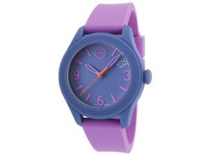 Esq Movado 7101454 Esq One Lavender Silicone Slate Blue Dial Watch