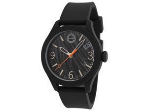 Esq Movado 7101445 Esq One Black Silicone Two-Tone Zebra Print Dial Short Strap Watch