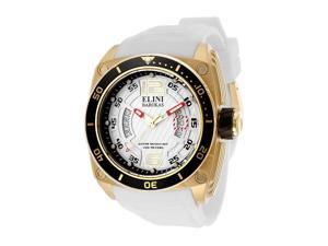 Commander White Silicone & Textured Dial Gold-tone Accent