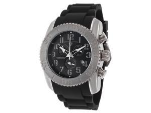 Swiss Legend 11876-Ti-01-Grya Commander Chrono Black Silicone And Dial Grey Accents Titanium Case Watch