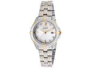 Women's Diamond Two-Tone Stainless Steel White Dial
