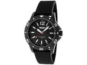 I By Invicta 10008-004 Men's Black Textured Silicone, Dial, Bezel & Ip Stainless Steel Watch