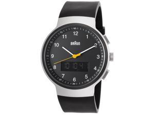 Braun Bn-0159-Slbkbkg Men's Classic Analog Digital Black Rubber And Dial Ss Watch