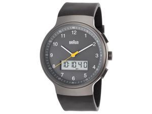 Braun Bn-0159-Gygyg Men's Classic Ana-Digi Grey Rubber And Dial Ss Watch