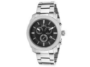 Men's Specialty Chronograph Black Dial Stainless Steel Bracelet