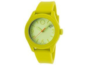 Esq Movado 7101453 Esq One Chartreuse Silicone Light Green Dial Watch