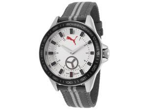 Puma PU103631005 Men's Grey Nylon Silver-Tone Dial Black Bezel