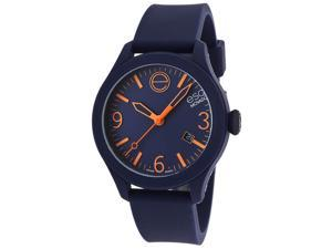 Esq Movado 7101441 Esq One Navy Blue Silicone, Dial And Case Watch