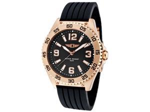 I By Invicta 20036-003 Men's Black Silicone And Dial Rose 18K Gold Plated Stainless Steel Watch