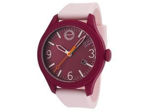 ESQ 7101440 Unisex One Light Pink Silicone Cranberry Red Dial Watch