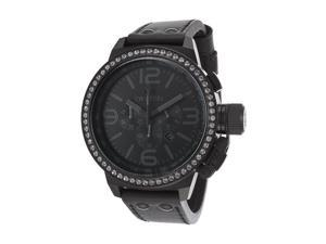 Tw Steel Tw913 Women's Canteen Chrono Black Genuine Leather And Dial Watch