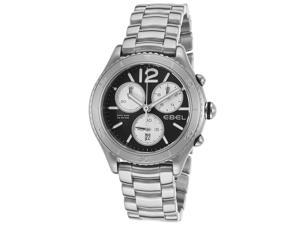 Ebel 1216120 Men's X-1 Chronograph Stainless Steel Black Dial Watch