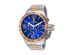 Tw Steel Cb144 Men's Canteen Chrono Ss Blue Dial Watch