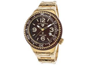 Swiss Legend 21848P-Yg-44-Gb Neptune Force Gold-Tone Steel Brown Dial Watch