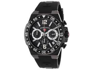 Swiss Legend 14086Sm-Bb-01-Sa Opus Chronograph Black Silicone And Dial Black Ip Steel Case Watch