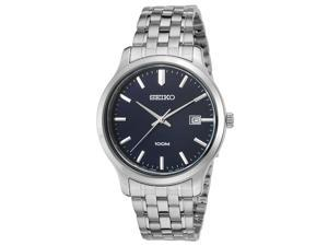 Seiko Sur143p1 Men's Neo Classic Stainless Steel Navy Blue Dial Watch
