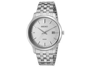 Seiko Sur141p1 Men's Neo Classic Stainless Steel Silver-Tone Dial Watch