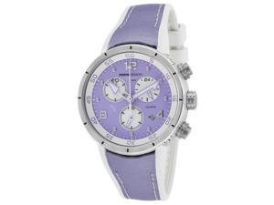 Momo Design Md2205ss-51 Women's Diver Pro Chrono White Silicone And Lavender Satin And Dial Watch