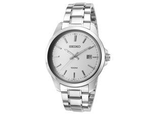Seiko Sur151p1 Men's 42 Mm Neo Classic Stainless Steel Silver-Tone Dial Watch