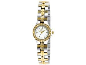 Invicta 19776Syb Women's Wildflower 18K Gold Plated And Ss White Dial Watch