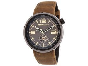 Men's Evo Automatic Brown Genuine Leather Grey Dial