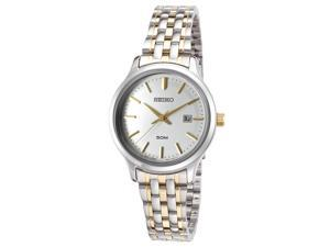 Seiko Sur793p1 Women's Neo Classic Two-Tone Stainless Steel Silver-Tone Dial Watch