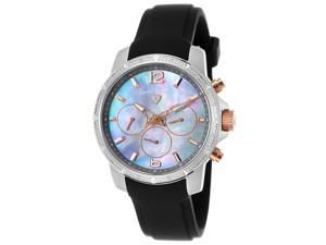 Swiss Legend 16527Sm-Sr-014 Legasea Diamond Multi-Function Black Silicone Grey Mop Dial Watch